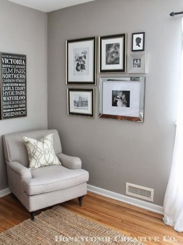 Mirrored photo frames.  Unique Ways to Decorate With Mirrors - Home Decorating Tricks - Good Housekeeping