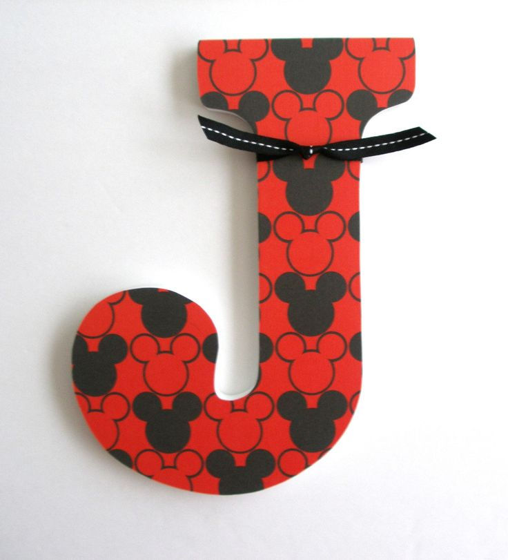 Custom Decorated Wooden Letters MICKEY MOUSE THEME - Nursery Bedroom Home Décor, Wall Decorations, Wood Letters, Personalized Disney. $20.00, via Etsy. @Holly Nicholson