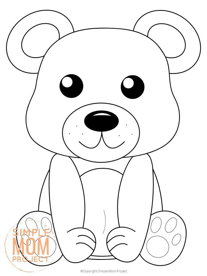 Free Printable Woodland Bear Coloring Page For Kids Bear Coloring Pages Animal Coloring Books Forest Animal Crafts