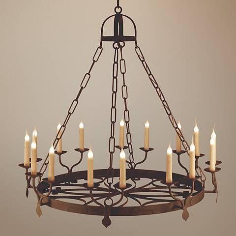Laura Lee Ellington 16-Light Large Candle Chandelier