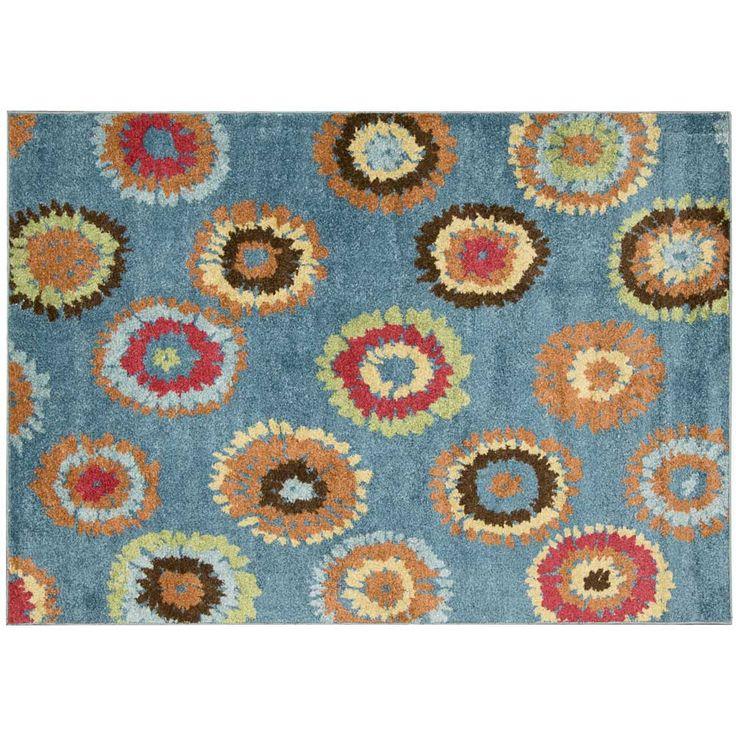Blue Flowerworks 5 X 7 Area Rug | Dorm Room Decor | OCM.com Part 59