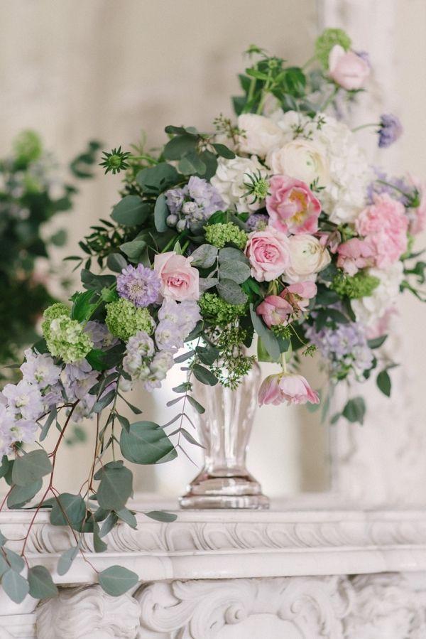 Pastel Pink & Purple Wedding Floral Centerpiece | Olesya Ukolova Photography on @CVBrides via @aislesociety