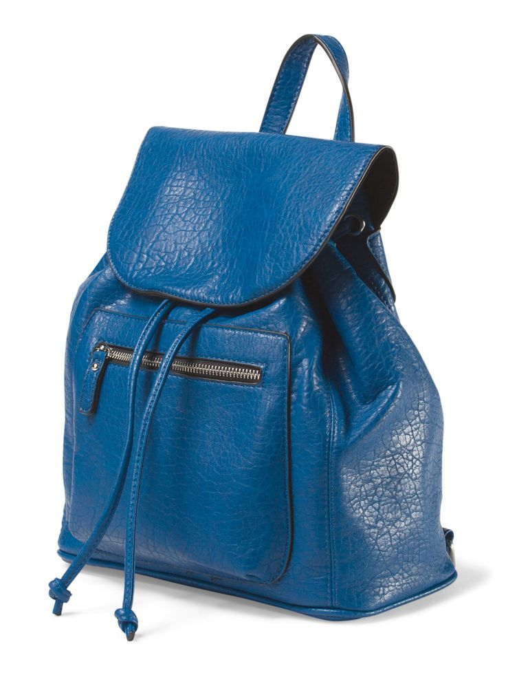 eaf4a6d51301dd Were obsessed with this pebble texture backpack in the perfect blue! Tj  MaxxBackpackSwagTexture MK Michael Kors purse tj maxx ...
