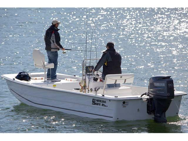 This Skiff is ready to fish. Check out 2012 Carolina Skiff DLX Series1965.