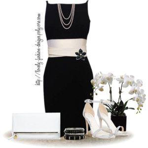 ~♥~ Black & White Pencil Dress ~♥~