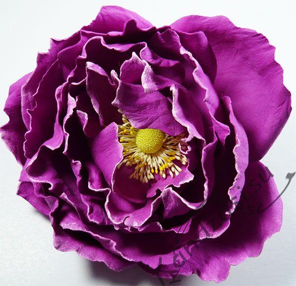 Бурбонская роза Барон Жиро де л'Эн из фоамирана