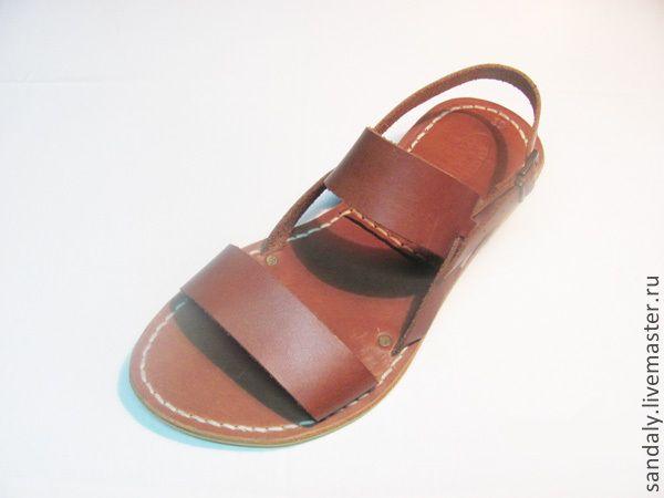 Купить Греческие сандалии №27 - рыжий, сандалии из кожи, летняя обувь, натуральная кожа
