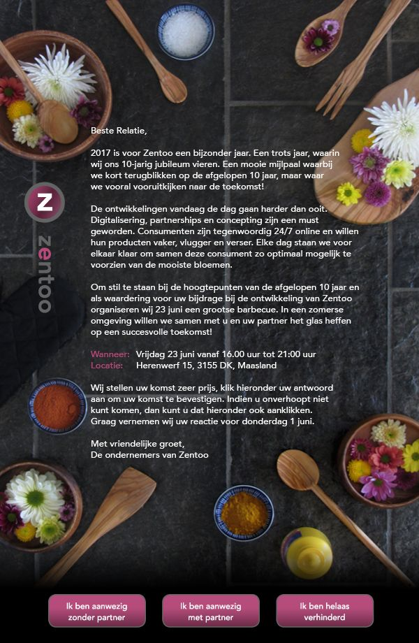 Uitnodiging 10-jarig bestaan Zentoo | fotografie & design bij @mangoaontwerp