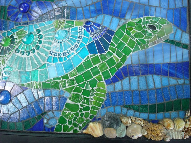 cool turtle mosaic