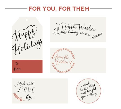 Free Printable Holiday Gift Tags from Fox & Flourish Calligraphy.