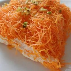 Kanafa, I just had this at someone's house.  OH MY GOD is it good.