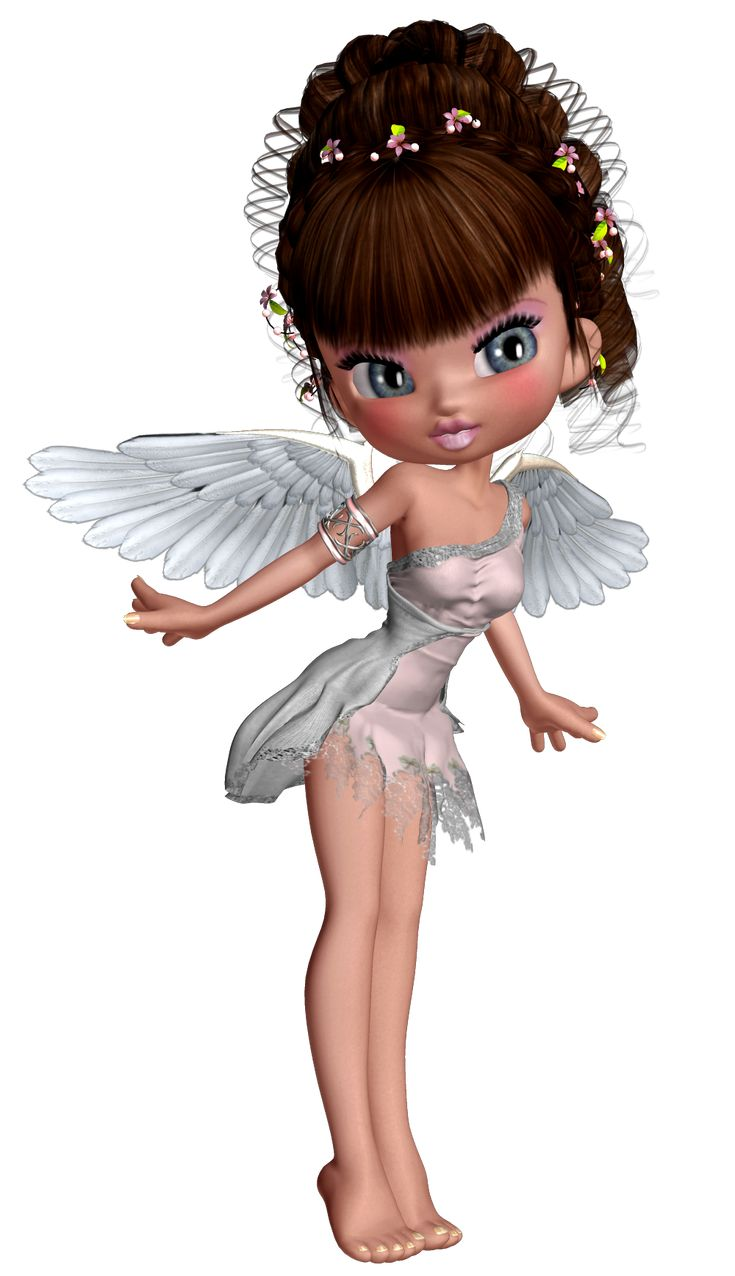 Cute 3D Little Angel PNG Picture
