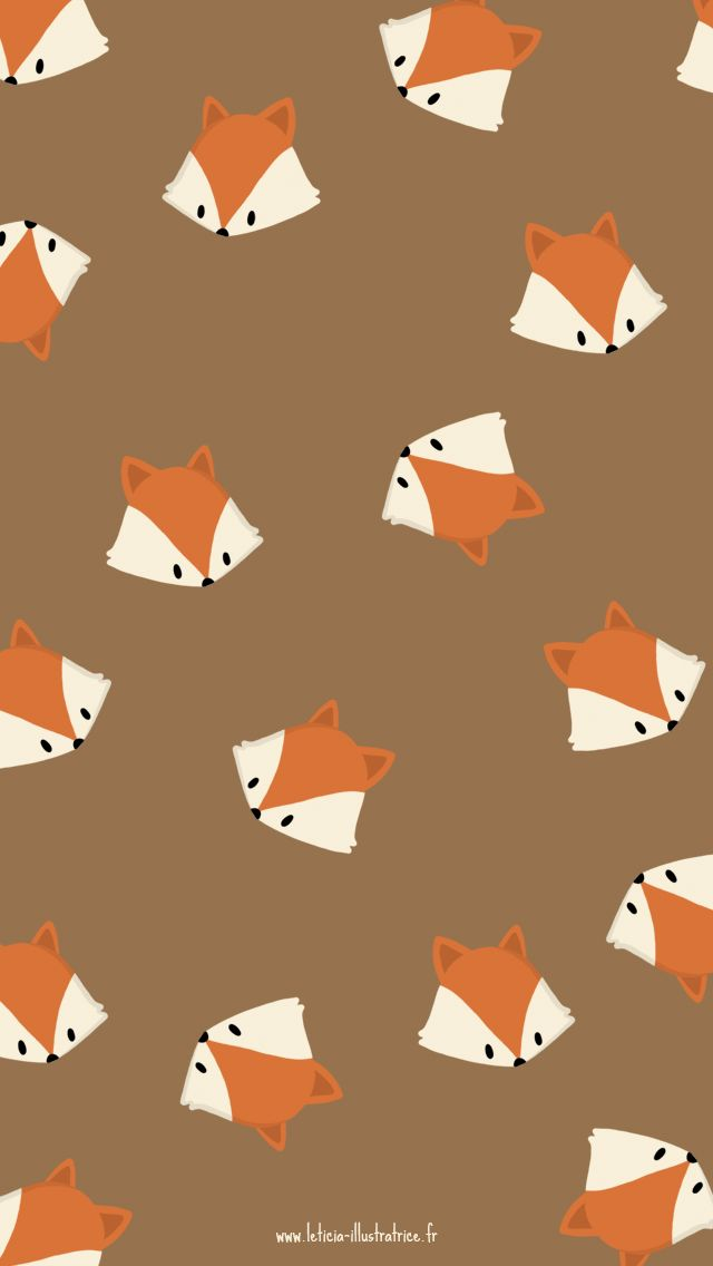 Hello Autumn Fox Girl iPhone Home Wallpaper @PanPins
