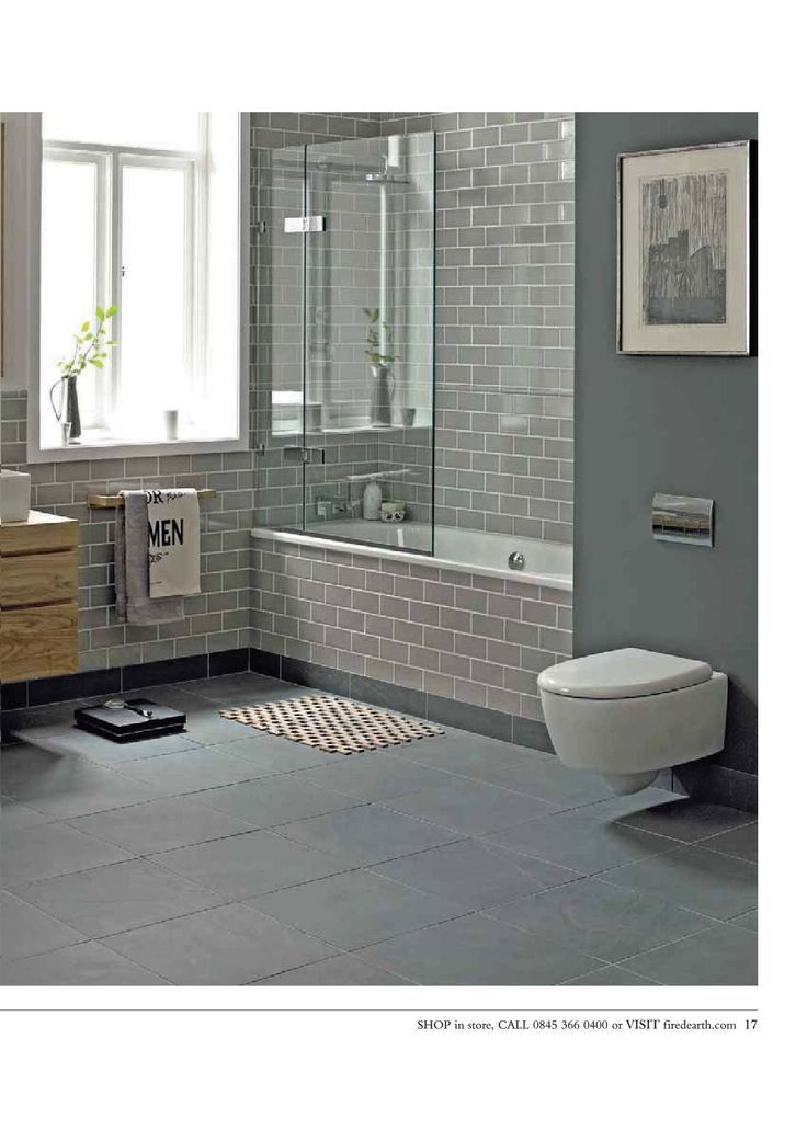 27 best grey tile flooring images on Pinterest   Bathroom ...