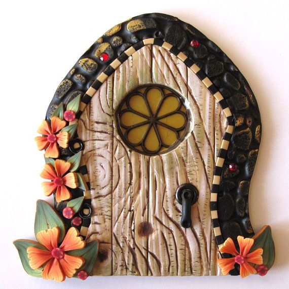 Autumn Cottage Fairy Door By Claybykim On Etsy 20 00