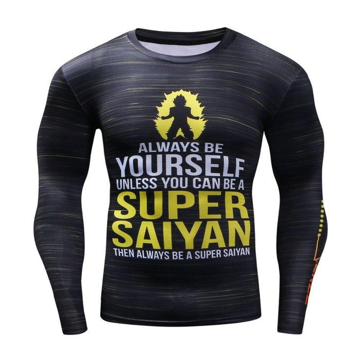 Rashguard MMA Clothing Compression Shirt Quick Dry Fitness Clothing Plus  Size Dragon Ball Captain America T shirt Hip Hop Fashion Men Top
