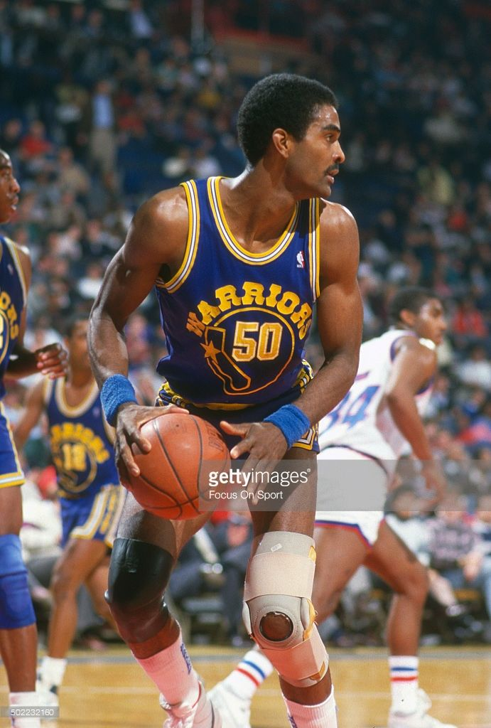 <a gi-track='captionPersonalityLinkClicked' href=/galleries/search?phrase=Ralph+Sampson&family=editorial&specificpeople=214741 ng-click='$event.stopPropagation()'>Ralph Sampson</a> #50 of the Golden State Warriors looks to pass the ball against the Washington Bullets during an NBA basketball game circa 1989 at the Capital Centre in Landover, Maryland. Sampson played for the Warriors from 1987-89.