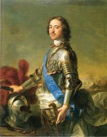 Portrait of Tsar Peter I - Jean-Marc Nattier