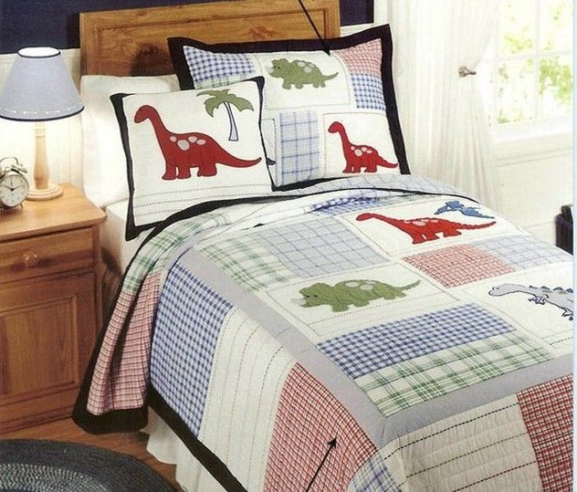 European Style cotton quilt  kids dinosaur bed cover Autumn Comforter set vintage twin bedspread patchwork quilt comforter 2pc US $109.00