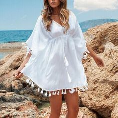 Gender: Women Item Type: Cover-Ups Pattern Type: Solid Brand Name: NO Material: Cotton Material: Spandex Model Number: Bikini Cover up