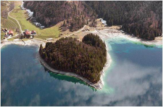 heart shape-GermanyHeart In Nature, Heart Heart, Bavarian Alps, Heart Islands, Heart Shape, Mothers Nature, Heartshape Islands, Heart Shapped, Nature Heart