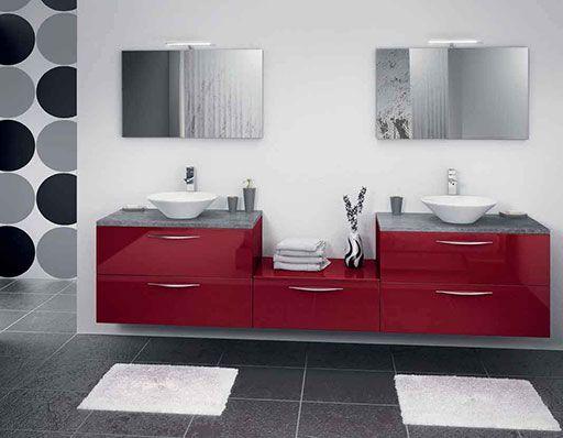 17 id es propos de d coration salle de bain rouge sur - Deco salle de bain rouge ...