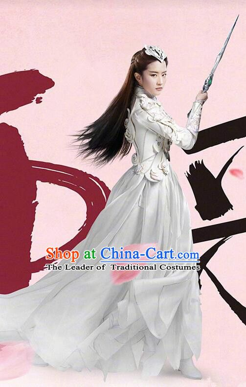 13fa6fe6b Asian Chinese Traditional Female Costume and Headpiece Complete Set, Films  Once Upon a Time China Warrior General Armour Clothing for Women