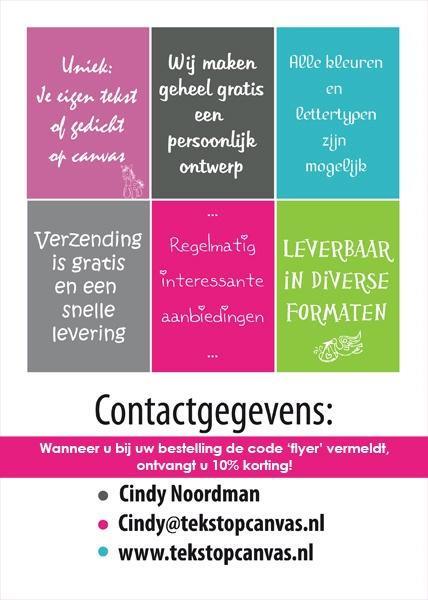 A5 Flyer voor TekstopCanvas (achterkant)