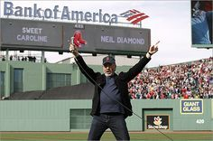 "****NEIL DIAMOND sang ""Sweet Caroline"" during the middle of the eighth inning of the Red Sox baseball game at Fenway Park today - a tradition at all Home games - He wrote the song for Caroline Kennedy when she was a child - Today, he showed up in person to sing the song to Boston!!!! - WHAT A GUY!!! >>> WATCH VIDEO"
