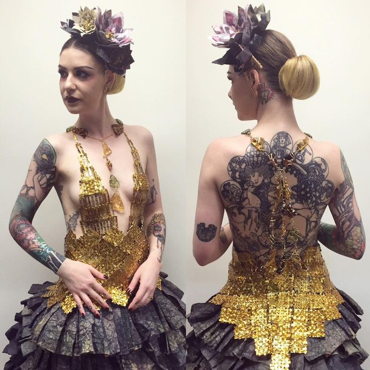 """Our entry representing Juut Salonspa. Best Hair and Makeup winner for 2016 Aveda Institute Minneapolis """"Catwalk for Water."""" This flamenco-inspired garment wa..."""