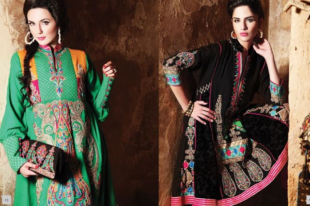 Kashmiri Embroidery Dresses 2012-2013