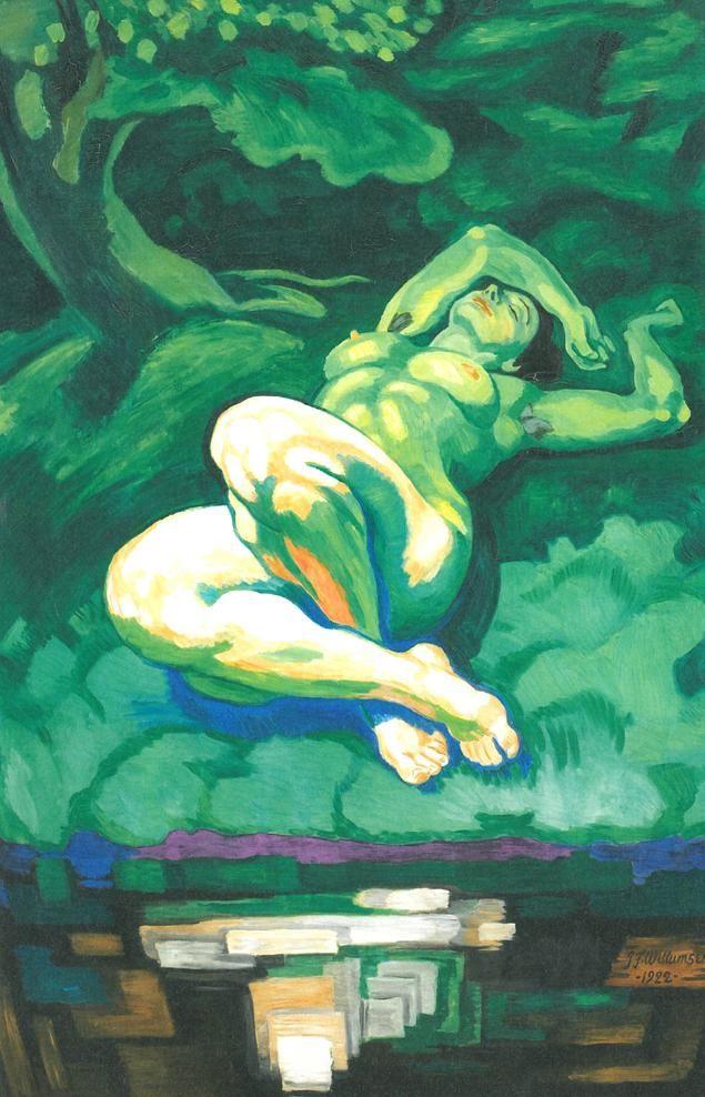 J.F.Willumsen Den Grønne Pige , 1922