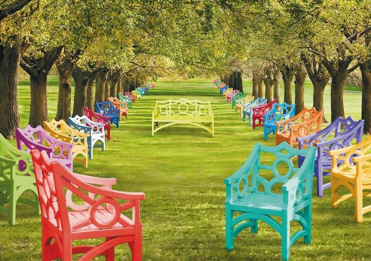 John Lyle Design: Color Chairs, Johnlyledesign Outdoor, Outdoor Living, Color Outdoor, Outdoor Chairs, Lyle Design, Plastic Chairs, Gardens Parties, John Lyle