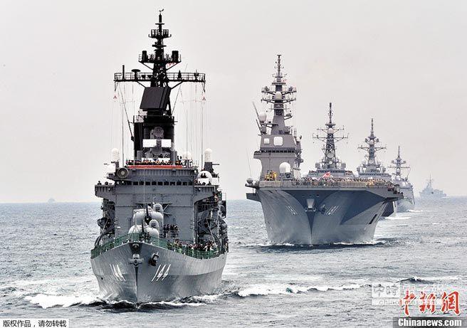 ▲2012年10月14日,日本海上自衛隊在神奈川縣相模灣舉行海上自衛隊閱艦式。(取自中新網)