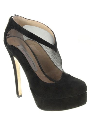 The shoes, not to high with the platform and like booties so comfortable and easy to walk in<3 #perfectpromshoes