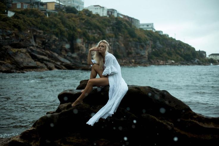 The original Lorelei a mermaid bound to the rocks and the ocean. SHOP / Lover's Quarrel Duster via bio. Handmade with love. #lostlorelei #blonde #whiteonwhite #bohemian #gypsy #freespirit #weddingdress #bohemianwedding
