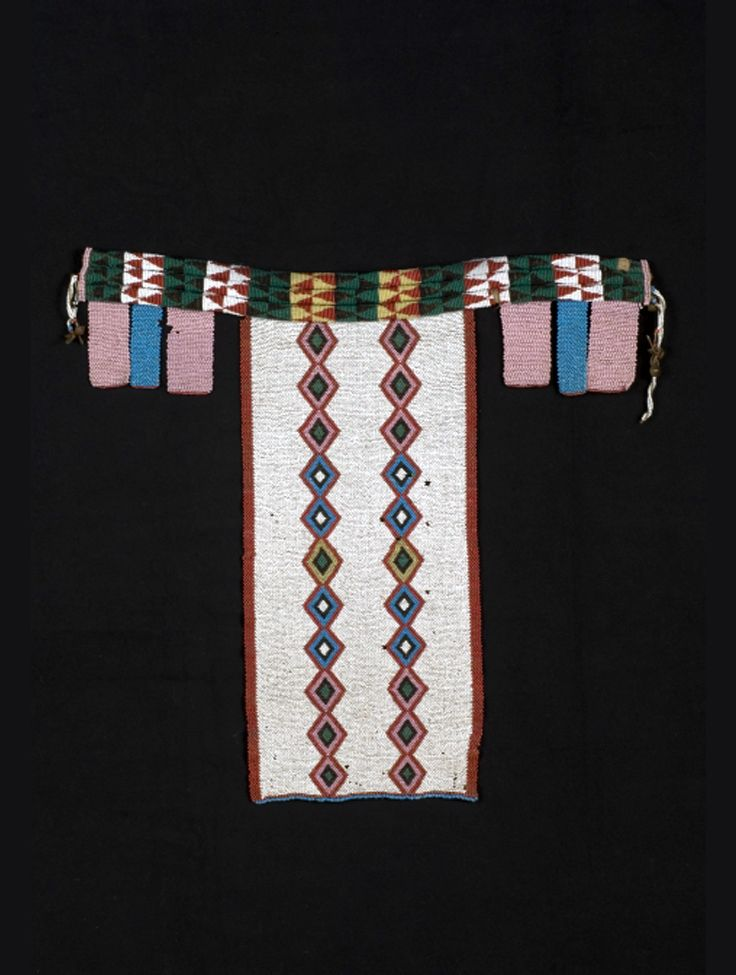 Africa | Cache sexe or belt from the Zulu people of Natal, South Africa | Glass beads and natural fiber | ca. 1957 or earlier