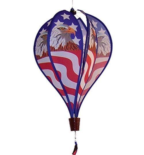 Hot Air Balloon Patriotic Eagle American Flag Windsock Spinner #Military #USA #Gifts #Yard #Garden #American #Eagle #Flaf #eBay
