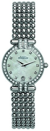 Michel Herbelin Ladies Mother Of Pearl Dial Perle Bracelet Watch 16873/44XB59