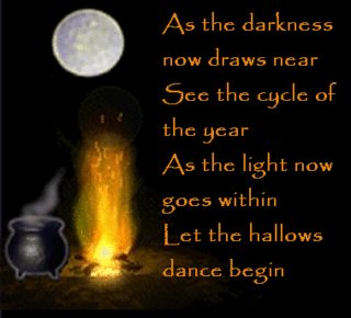 Samhain - the one night a year where the veil between the worlds is the thinnest.  We honor our dead and we take on the incarnation of that which we desire to be.  We celebrate the last of the Great Mother's yearly bounty and commend ourselves for a job well done.  Now begins the time of preparing for the Great Mother's rest at Yule.