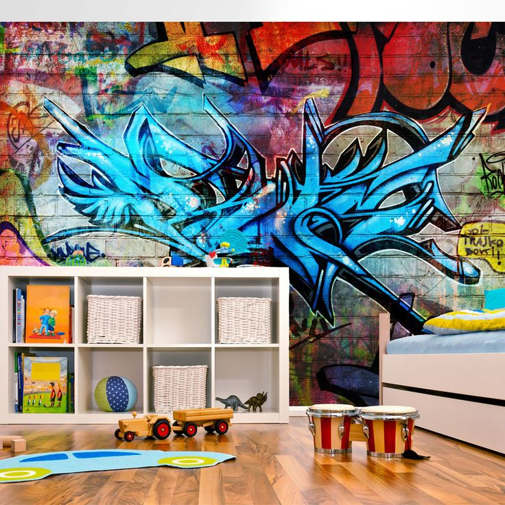Tapeta hip hop graffiti #hiphop #art #sztuka #design #streetart #design #aranżacja #dekoracja