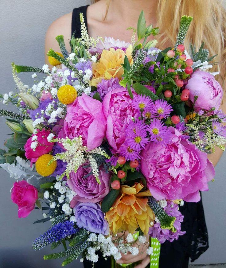 Peony Rose Mix Wedding Bouquet
