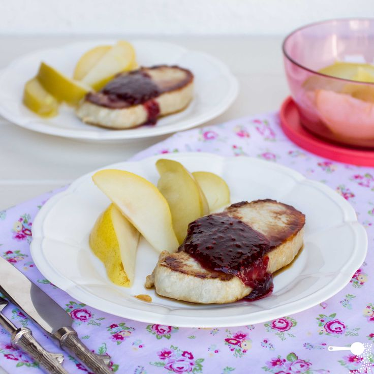 Pork medallions with Autumn fruits and raspberry jam (using Aussie Apples)