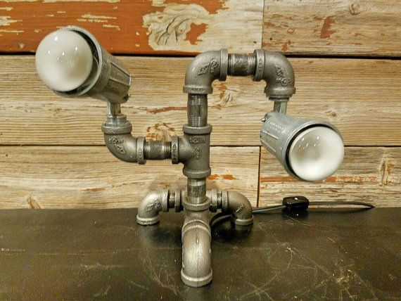 21 best pipe lamps and decor images on pinterest pipe for Industrial pipe light socket