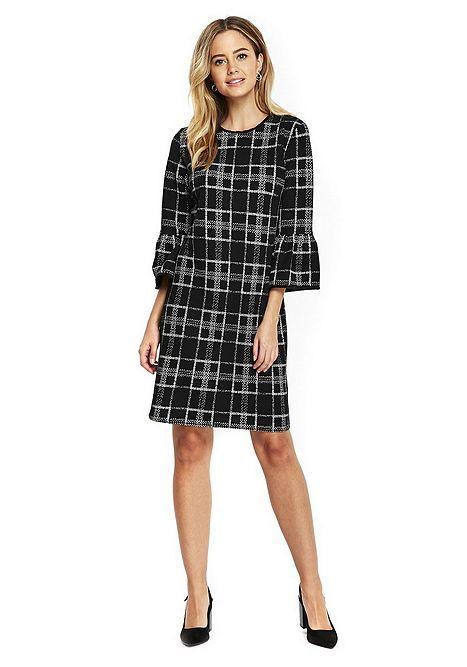 Tesco direct: Wallis Textured Flute Sleeve Shift Dress