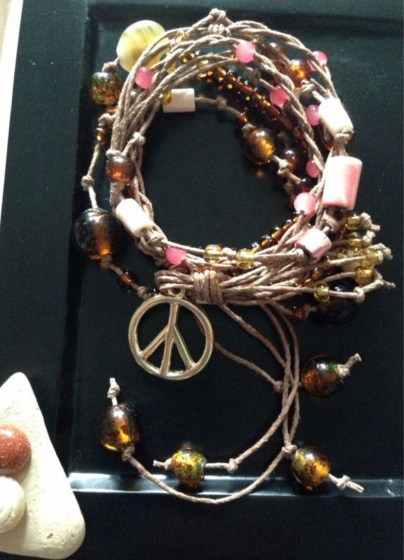 Fave Peace Necklace by HigherdivineJewels on Etsy