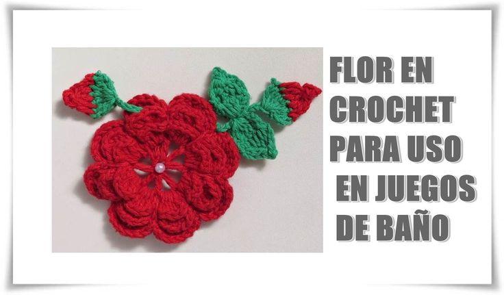 Decoracion De Baños Tejidos A Crochet:de 1000 ideas sobre Juegos De Baño Tejidos en Pinterest