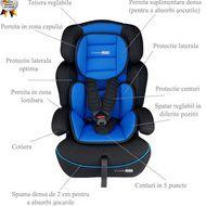 BabyGo - Scaun auto FreeMove Blue