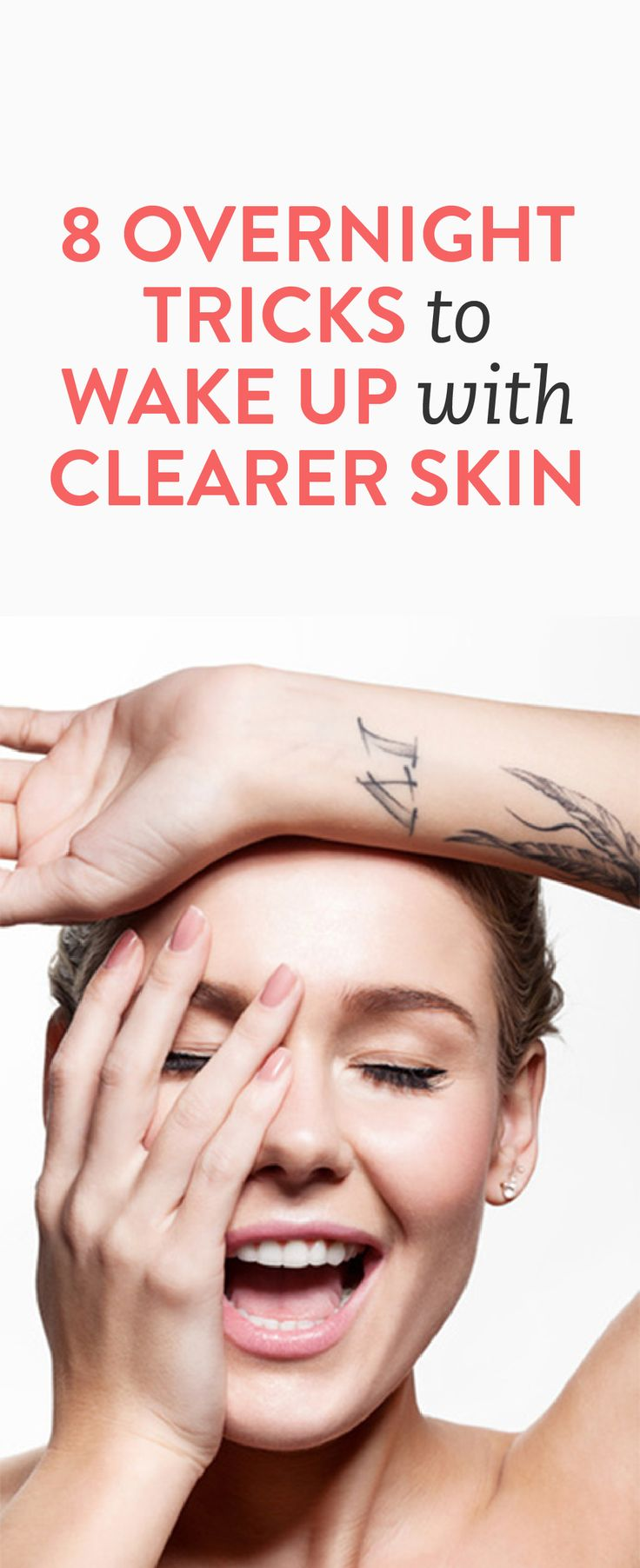 8 Overnight Tricks to Wake Up with Clearer Skin #Beauty #Tips #Advice