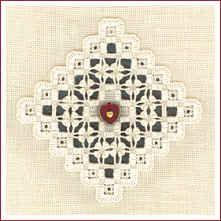 "The Victoria Sampler - ""Noel Ornament"" - free patterns (hardanger embroidery)"